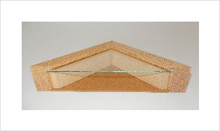 Natural spacer frame in 77i natural oak frame